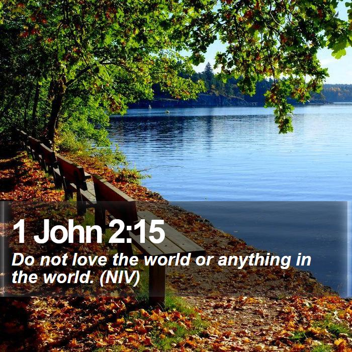 1 John 2:15 - Do not love the world or anything in the world. (NIV)