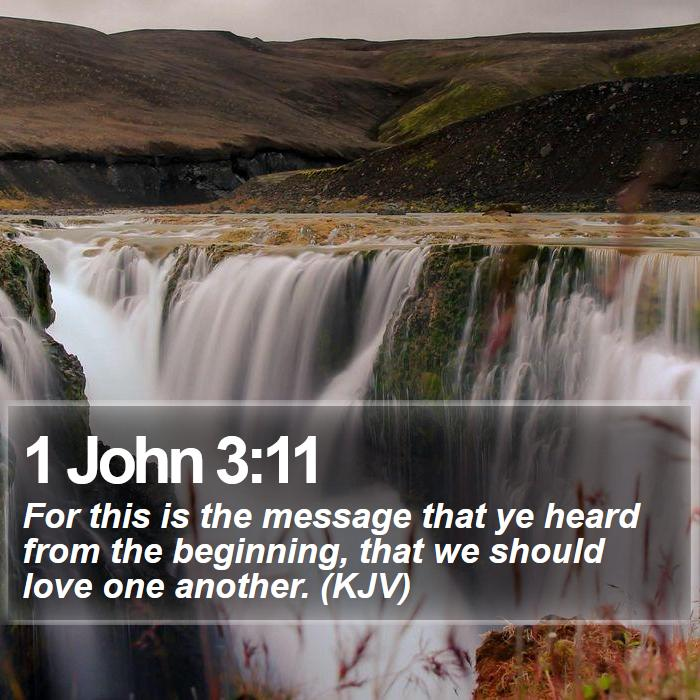 1 John 3:11 - For this is the message that ye heard from the beginning, that we should love one another. (KJV)