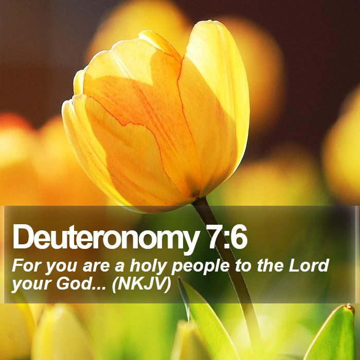 Deuteronomy 7:6 - For you are a holy people to the Lord your God... (NKJV)
