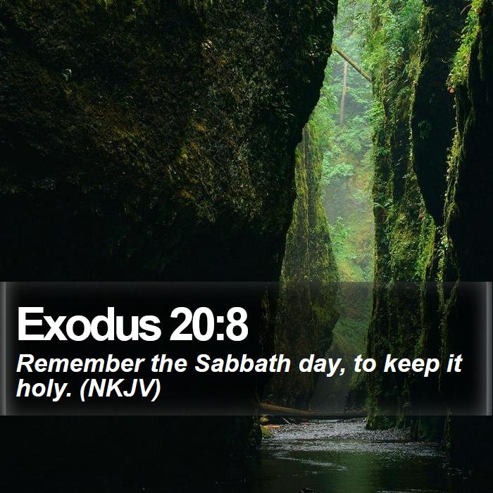 Exodus 20:8 - Remember the Sabbath day, to keep it holy. (NKJV)