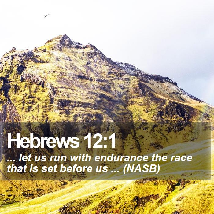 Hebrews 12:1 - ... let us run with endurance the race that is set before us ... (NASB)