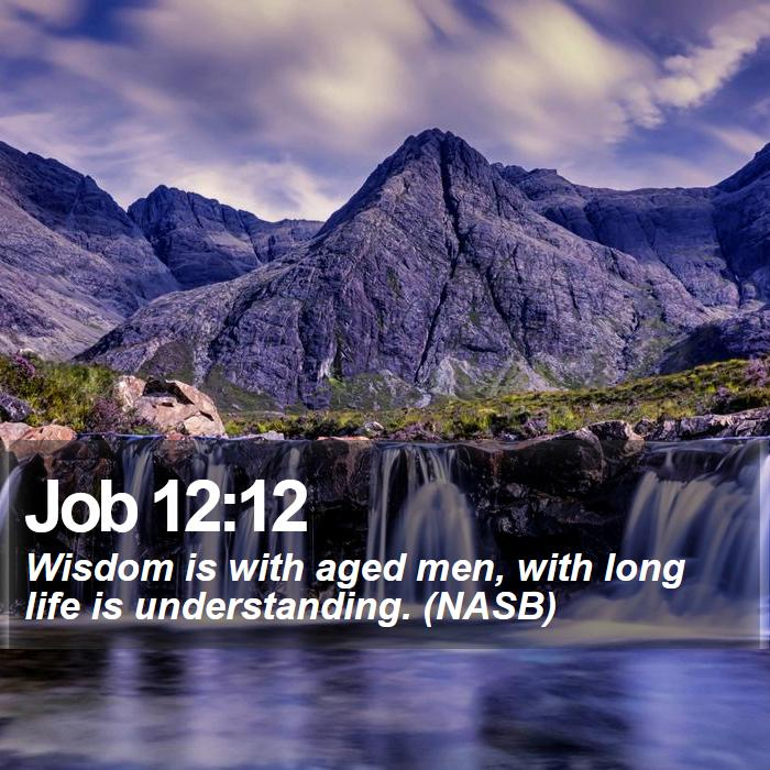 Job 12:12 - Wisdom is with aged men, with long life is understanding. (NASB)