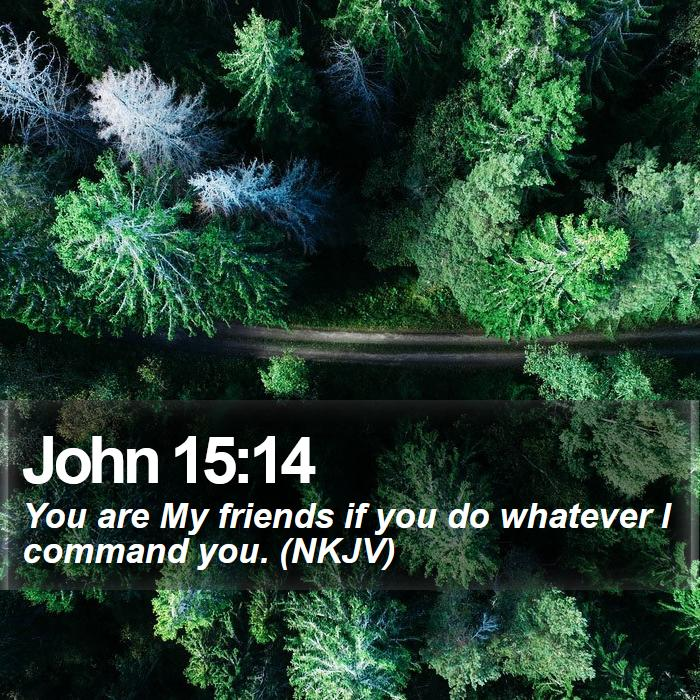 John 15:14 - You are My friends if you do whatever I command you. (NKJV)