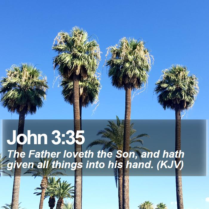 John 3:35 - The Father loveth the Son, and hath given all things into his hand. (KJV)