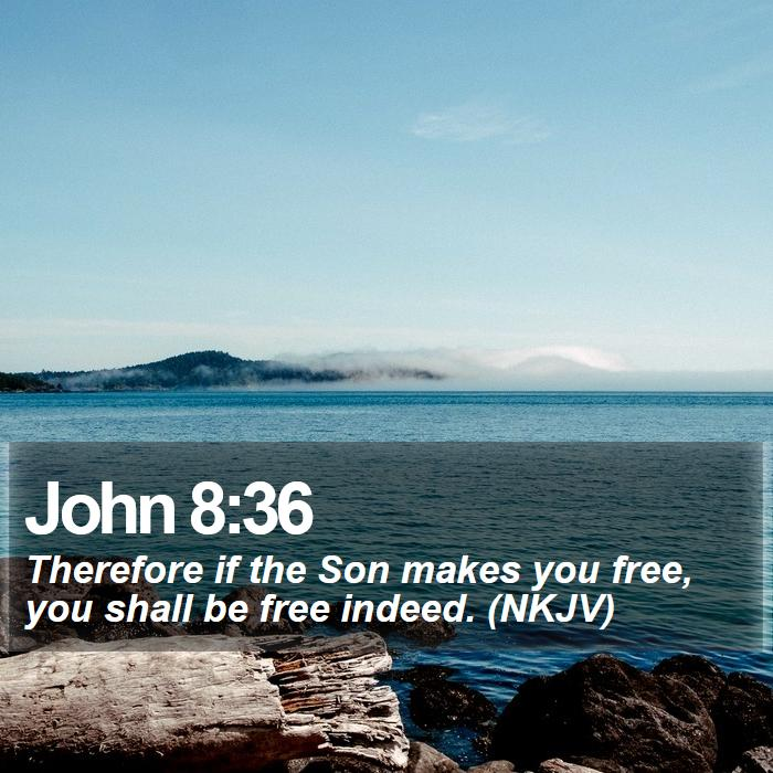 John 8:36 - Therefore if the Son makes you free, you shall be free indeed. (NKJV)