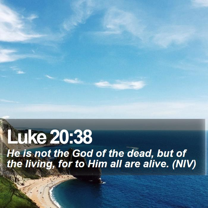 Luke 20:38 - He is not the God of the dead, but of the living, for to Him all are alive. (NIV)