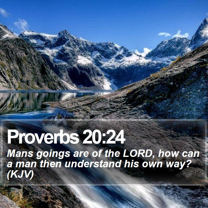 Proverbs 20:24 - Mans goings are of the LORD, how can a man then understand his own way? (KJV)
