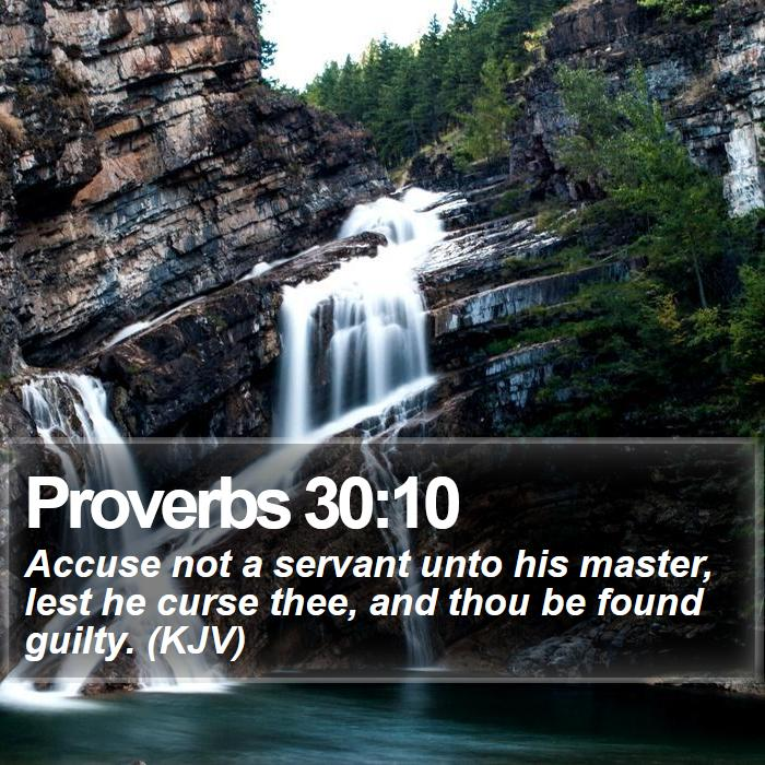 Proverbs 30:10 - Bible Verse of the Day - Scripture Verse Of The Day
