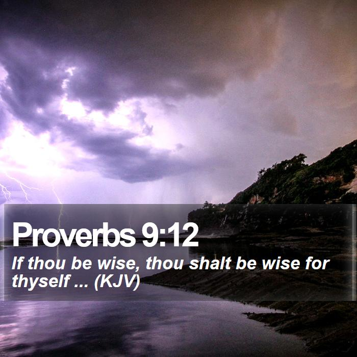 Proverbs 9:12 - If thou be wise, thou shalt be wise for thyself ... (KJV)