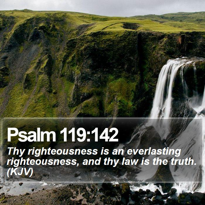 Psalm 119:142 - Thy righteousness is an everlasting righteousness, and thy law is the truth. (KJV)