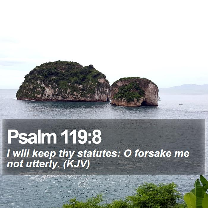 Psalm 119:8 - I will keep thy statutes: O forsake me not utterly. (KJV)