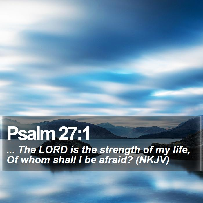 Psalm 27:1 - ... The LORD is the strength of my life, Of whom shall I be afraid? (NKJV)