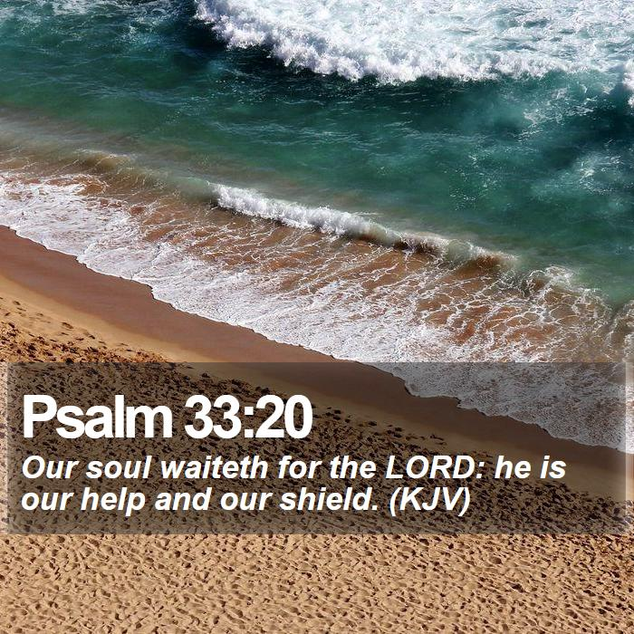 Psalm 33:20 - Our soul waiteth for the LORD: he is our help and our shield. (KJV)